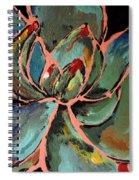 Teal Pink Succulent Spiral Notebook