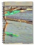 Teal Reflections Spiral Notebook