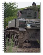 Tearing It Up - M3 Stuart Light Tank Spiral Notebook
