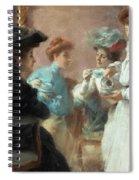 Teatime In My Living Room In Via Senato Spiral Notebook