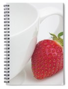 Teatime Strawberry Spiral Notebook
