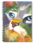 Technicolor Tabby Spiral Notebook