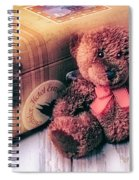 Teddy Bear And Suitcase Spiral Notebook