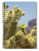 Teddy Bear Cholla Cactus With Flower Spiral Notebook