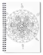 Teddy Bear Mandala Spiral Notebook