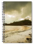 Teds Beach At Dusk Spiral Notebook