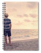 Teen Boy On Beach Spiral Notebook