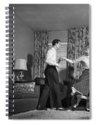 Teen Couple Dancing At Home, C.1950s Spiral Notebook