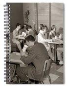 Teens At A Diner, C. 1950s Spiral Notebook