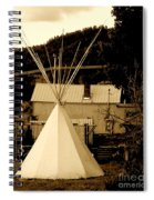 Teepee In Montana Spiral Notebook
