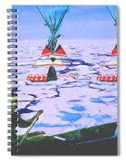 Teepees On Ice Spiral Notebook