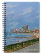 Tel Aviv Beachline Spiral Notebook
