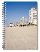Tel Aviv Coastline Spiral Notebook