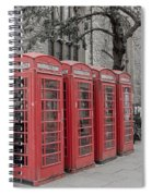 Telephone Boxes Spiral Notebook