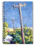 Telephone Poles Before The Rain Spiral Notebook