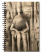 Television Tube Self-portrait Spiral Notebook