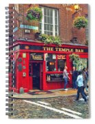 Temple Bar 0554 Spiral Notebook