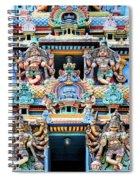 Temple Facade Chennai India Spiral Notebook