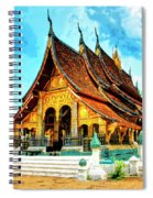 Temple In Laos Spiral Notebook