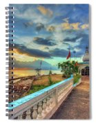 Temple In The Sea Spiral Notebook