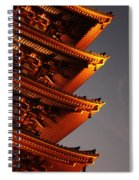 Temple Lights Spiral Notebook