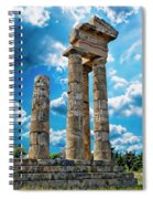 Temple Of Apollon Spiral Notebook