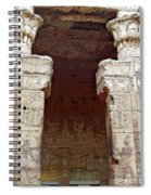 Temple Of Edfu I Spiral Notebook