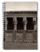Temple Of Hathor, Early 20th Century Spiral Notebook