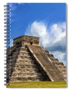 Temple Of The Feathered Serpent Spiral Notebook