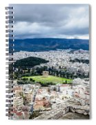 Temple Of Zeus - View From The Acropolis Spiral Notebook