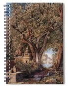 Temples And Burial Ground Near Poona Spiral Notebook
