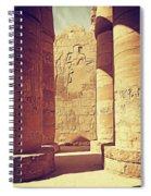 Temples Of Karnak  Spiral Notebook
