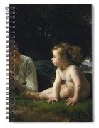 Temptation By William-adolphe Bouguereau Spiral Notebook