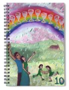 Ten Of Cups Illustrated Spiral Notebook