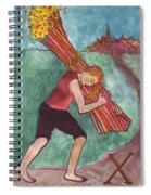 Ten Of Wands Illustrated Spiral Notebook
