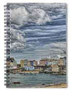 Tenby Harbour Texture Effect Spiral Notebook