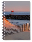 Tender Beach Light Spiral Notebook