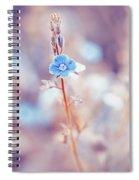 Tender Forget-me-not Flower Spiral Notebook