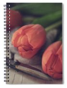 Tending The Tulips Spiral Notebook