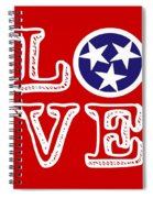 Tennessee Flag Love Spiral Notebook