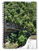 Tennessee River Gorge And Waterfall Panorama Spiral Notebook