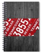 Tennessee State License Plate Map Spiral Notebook