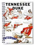 Tennessee Versus Duke 1955 Football Program Spiral Notebook
