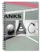 Tennis Coach Alphabet Art Spiral Notebook