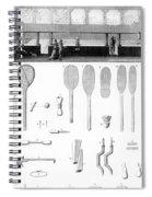 Tennis Court And Rackets Spiral Notebook