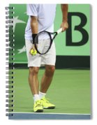 Tennis Player Spiral Notebook