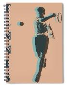 Tennis Player Pop Art Poster Spiral Notebook