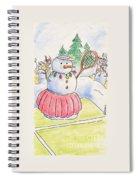 Tennis Snowlady Spiral Notebook