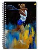 Tenniswoman 57 Spiral Notebook