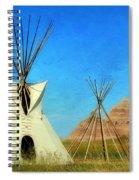 Tepee In Badlands Spiral Notebook
